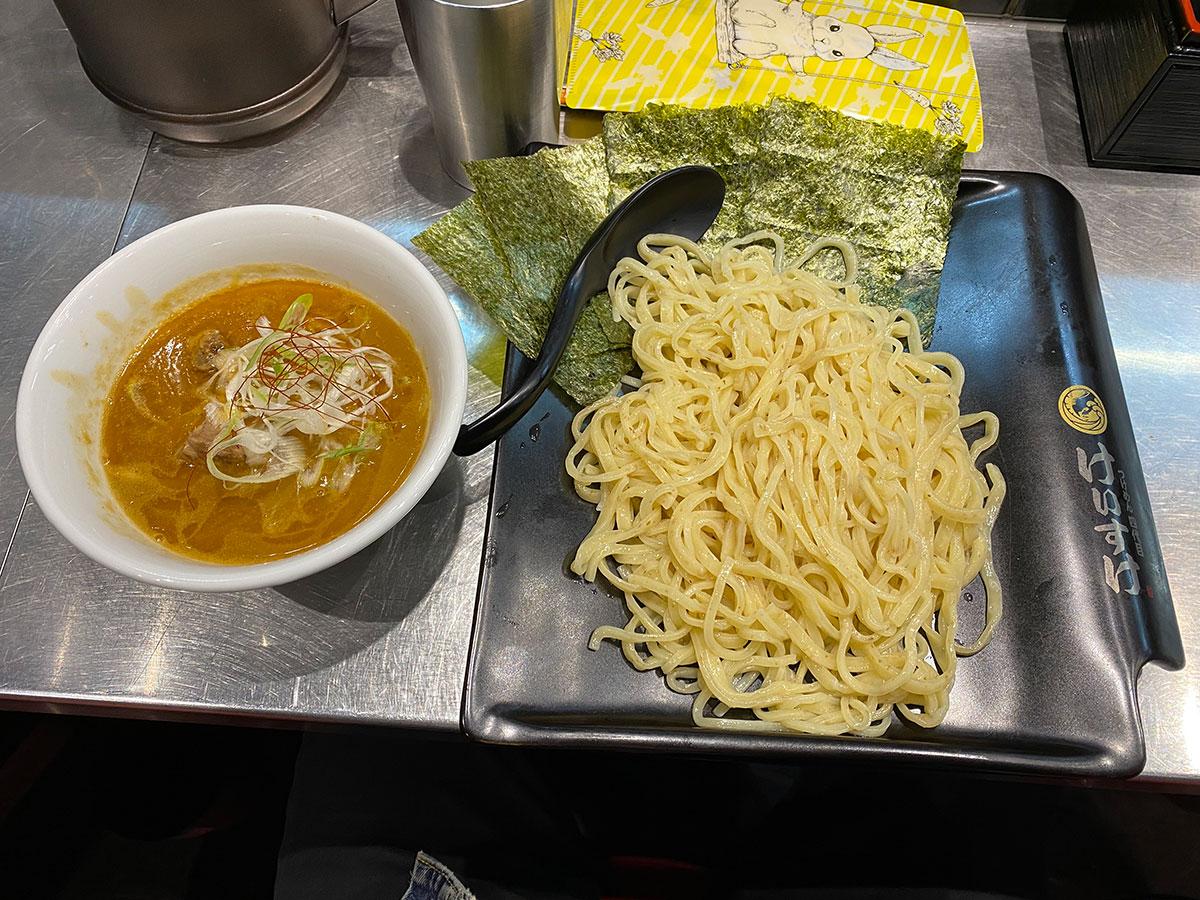 初代けいすけ本駒込本店の伊勢海老つけ麺、海苔トッピング。