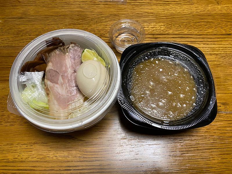 つじ田 神田御茶ノ水店の濃厚味玉つけ麺、テイクアウト。